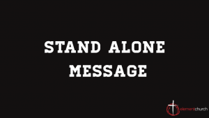 Stand Alone Message: Worry